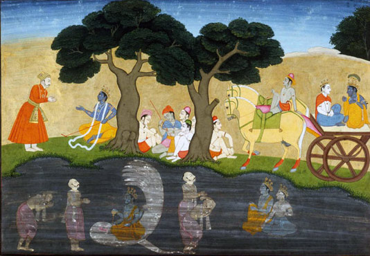 Akrura's Mystic Vision of Krishna
