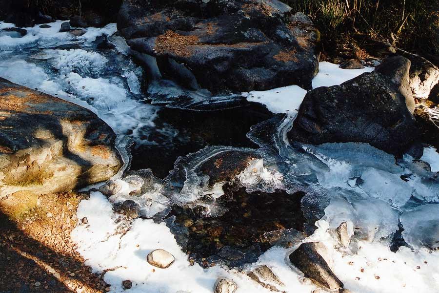 River Ice in North Crestone (photo by Virochana)